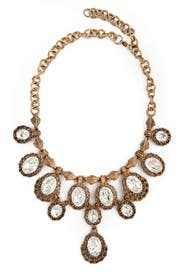 Antique Cascading Crystal Necklace by Ciner