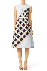 Color Swatch Zip Front Dress by Suno