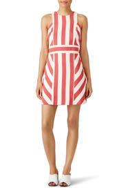 Red Maya Stripe Dress by Milly