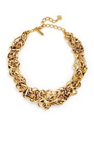 Gold Ribbon Necklace by Oscar de la Renta