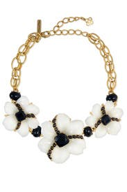 Tux Peony Statement Necklace by Oscar de la Renta