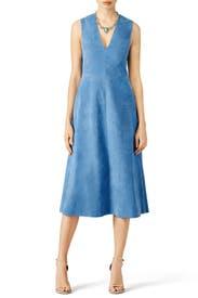 Blue Castora Dress by Tibi for $125 | Rent the Runway