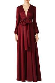 Oxblood Manor Gown by Jill Jill Stuart