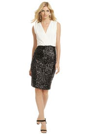Sequin Clash Dress by Badgley Mischka