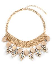 Crystal Stud Gold Chain Necklace by Slate & Willow Accessories