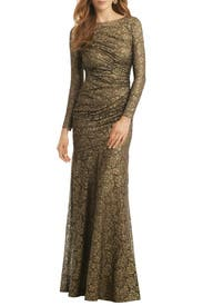 Gold Idol Gown by Carmen Marc Valvo