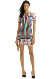 Woven Pesos Dress by Clover Canyon