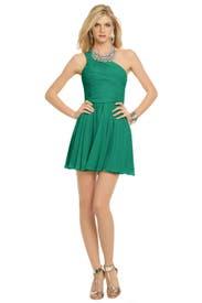 Green Tropics Dress by Halston Heritage