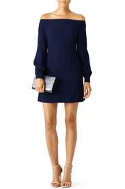 Blue Ink Shoulder Dress by Jill Jill Stuart