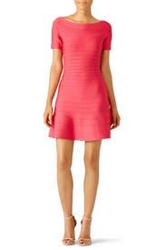 Pink Liza Dress by Hervé Léger