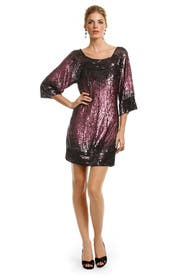 Cabernet Sequin Kiss Dress by Mark & James by Badgley Mischka