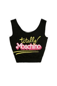 Black Think Pink Tank by Moschino