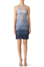 Blue Ombre Sheath by Badgley Mischka