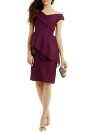 Pump Up In Plum Sheath by Lela Rose