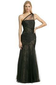 Tulle To Lace Gown by ML Monique Lhuillier