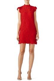 Rachel zoe red lace dress