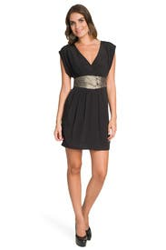 Black Embroidered Keyhole Dress by Tibi