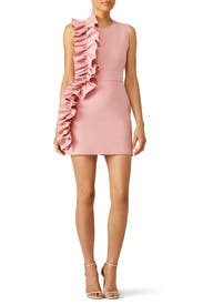 Pink Side Ruffle Dress by MSGM for $65 - $95  Rent the Runway
