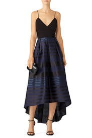 Stripe High Low Gown by Slate & Willow