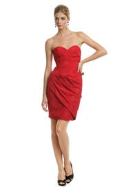 Candy Apple Jacquard Dress by Tracy Reese