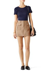 Beige Mini Military Skirt by Theory