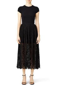 Stand Still Black Lace Skirt by Keepsake