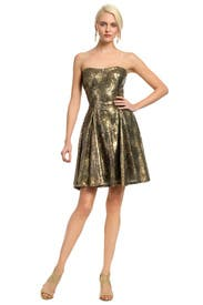 Copper Sequin Confetti Dress by Peter Soronen