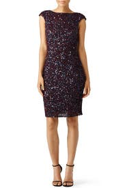 Mixed Berry Sequin Sheath by Theia