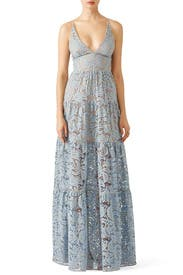 Blue Melina Lace Maxi By Dress The Population For 40