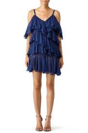 ruffled one shoulder dress - Blue Philosophy di Lorenzo Serafini cBtsO5xrVa