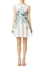 White Floral Suzie Dress by ERIN erin fetherston