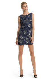 Sleeveless Orion Sequin Orbit Sheath by Badgley Mischka