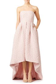 Dusty Rose Leopard High-Low Gown by Cynthia Rowley