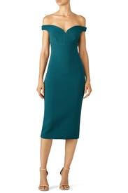 Green Garnet Dress by Cinq à Sept