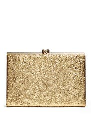 Gold Glitter Emanuelle Clutch by kate spade new york accessories