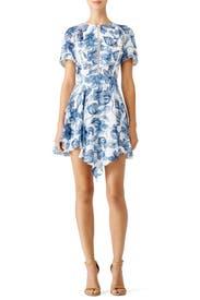 Blue Magnolia Dress by STYLESTALKER