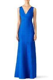 Blue Annabelle Gown by Hervé Léger