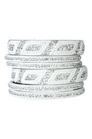 Crystal Blizzard Bangle by Chamak by Priya Kakkar