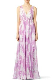 Lilac Disco Maxi Dress by Halston Heritage for $80 - $100 | Rent ...