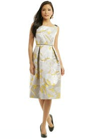 Gold Pegasus Jacquard Dress by Giles