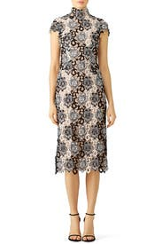 Black and White Floral Lace Dress by ML Monique Lhuillier for $75 ...