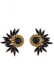 Burst and Chain Earrings by Elizabeth Cole