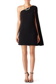 Black Drama Cape Shift Dress by Jill Jill Stuart
