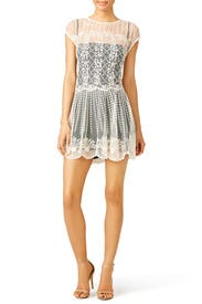 Cream Lace Dress by RED Valentino