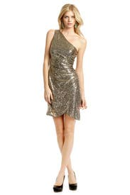 Gold Tulip Dress by Trina Turk
