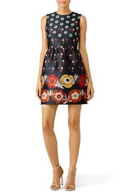Floral Techno Jacquard Shift Dress by RED Valentino