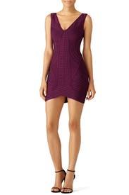 Purple Naeve Dress by Hervé Léger