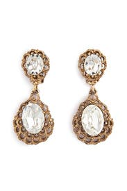 Antique Cascading Crystal Earring by Ciner