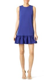 Indigo Ruffle Duster Shift by Cynthia Rowley