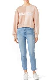 Pink CaliYork Sweatshirt by Cynthia Rowley